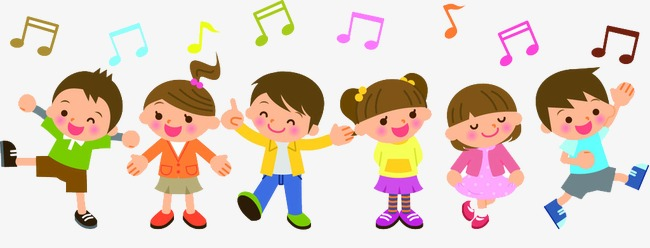 Singing clipart playful kid. Children color sing a