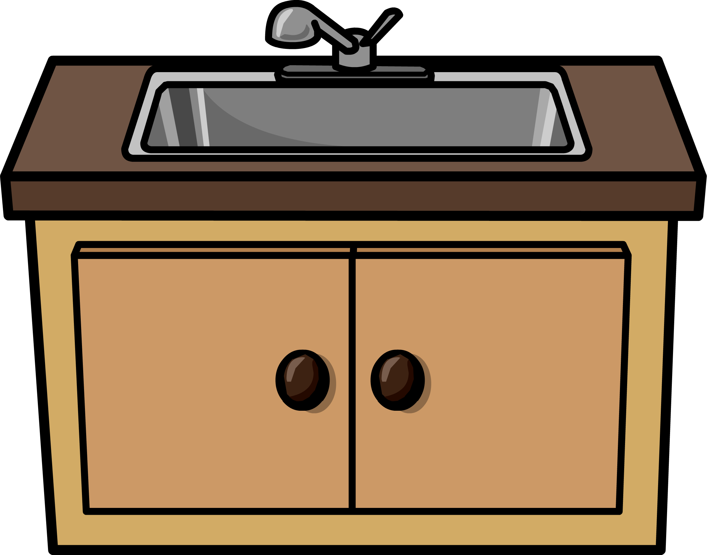 Sink part art home. Kitchen clip design png free library