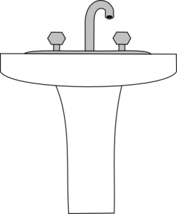 Sink vector. Clip art at clker
