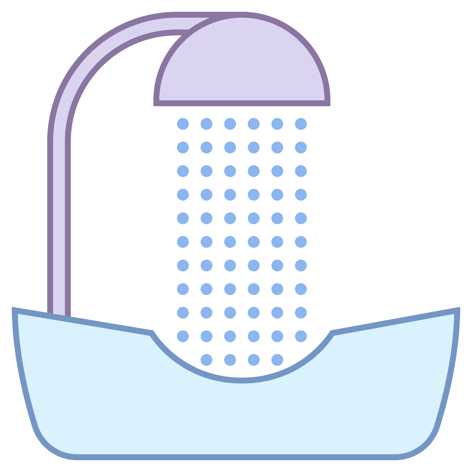 Sink vector. Hair washing icon free