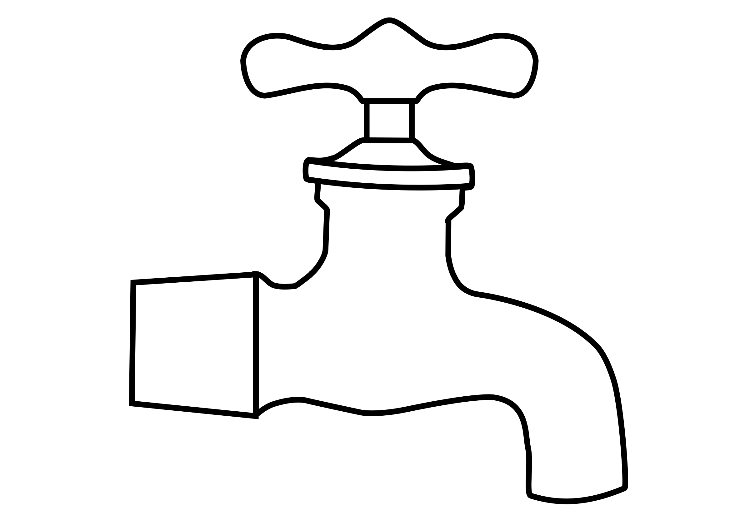 Sink vector tap. Collection of free fosset