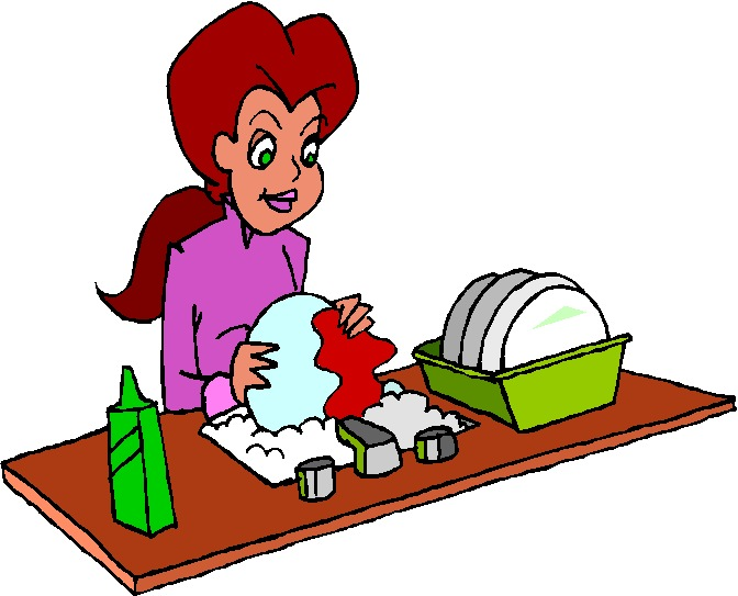 Washing clipart. Dishes free clip art