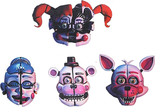Sister location png. Head by yinyanggio on