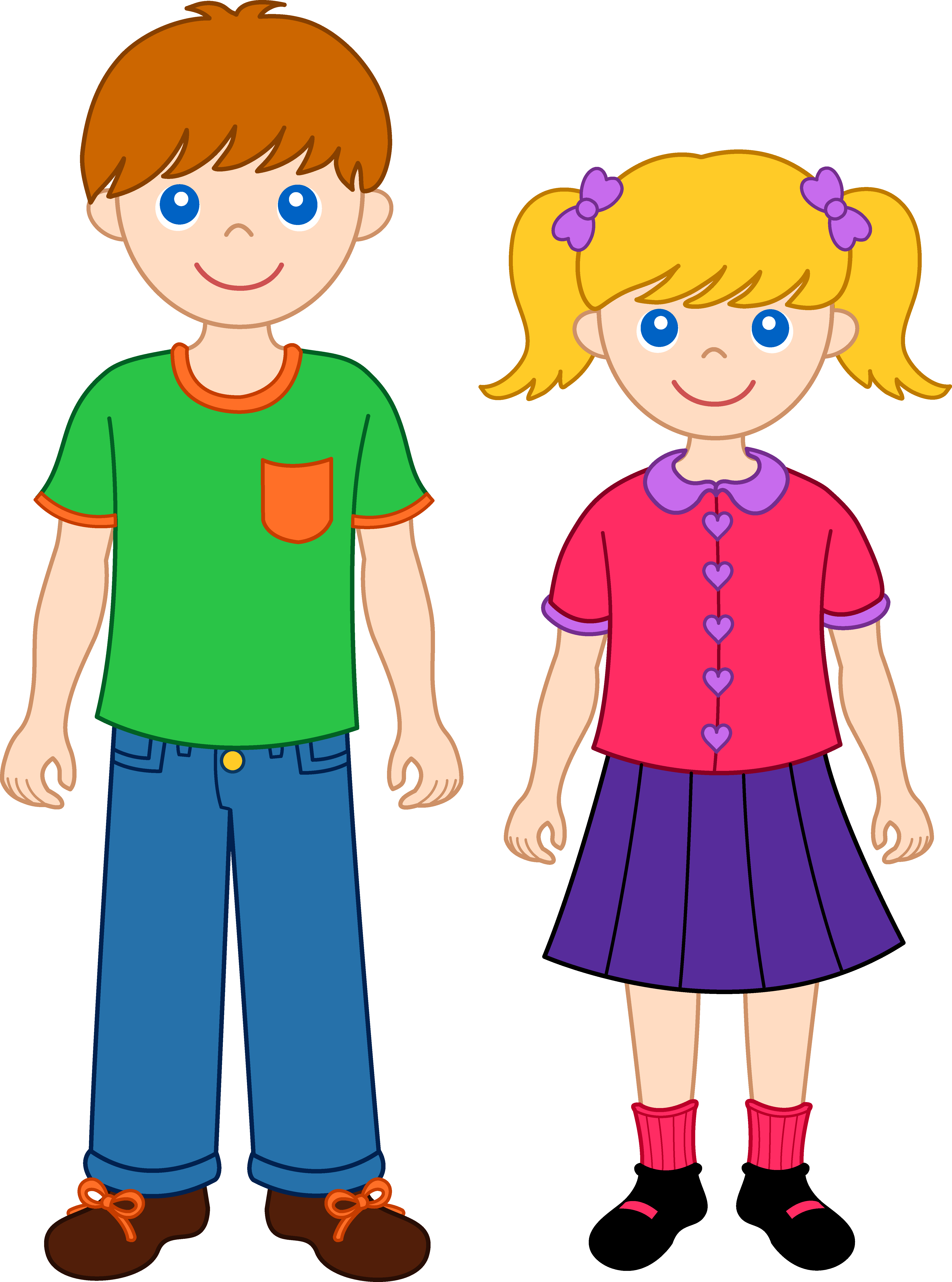 Brother and sister art. We clip transparent download