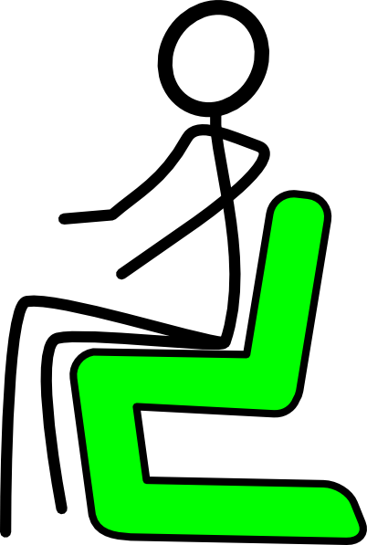 Chair clipart sit in. Green clip art at