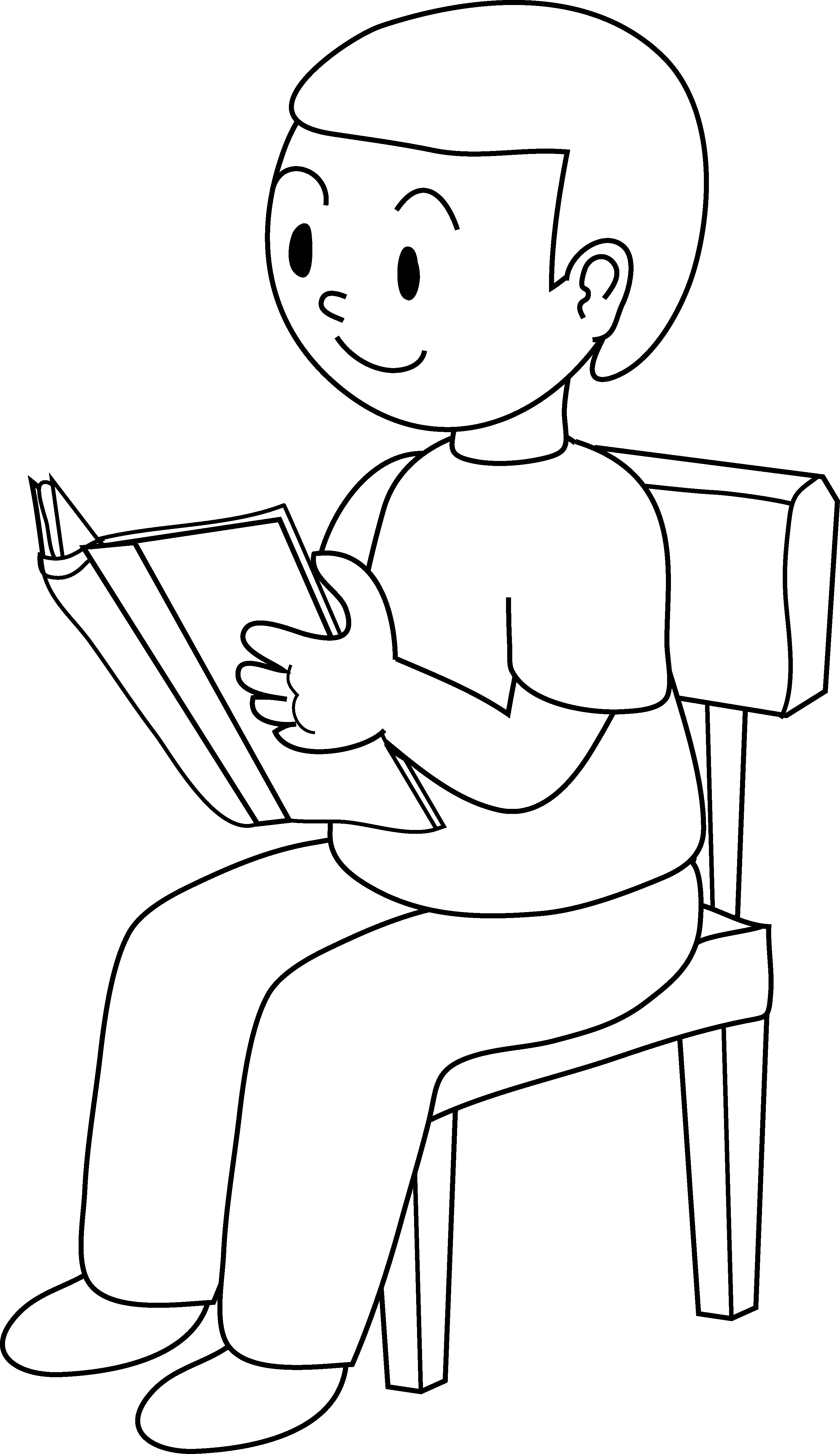 Sit clipart chair. Child sitting in clip