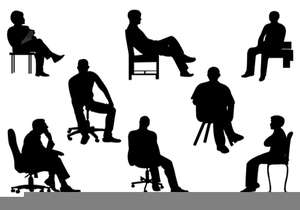 Sit clipart human. Silhouette sitting at getdrawings