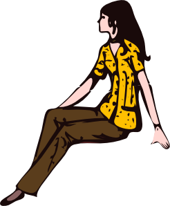 Sit clipart human. Free sitting cliparts download