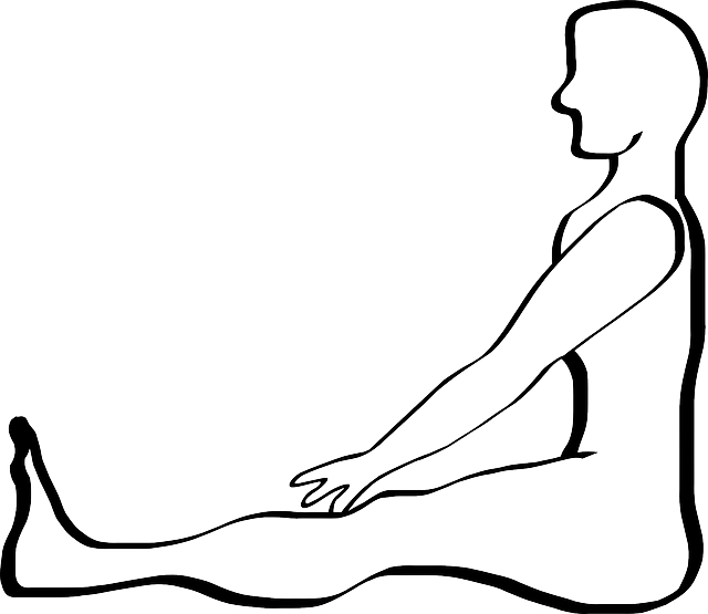 Drawing position meditating. Outline people yoga person