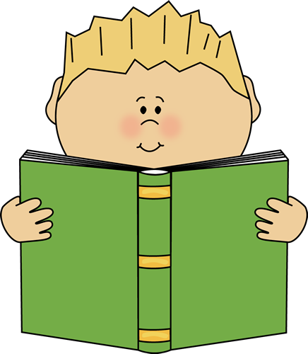 Sit clipart read. Free reading book image