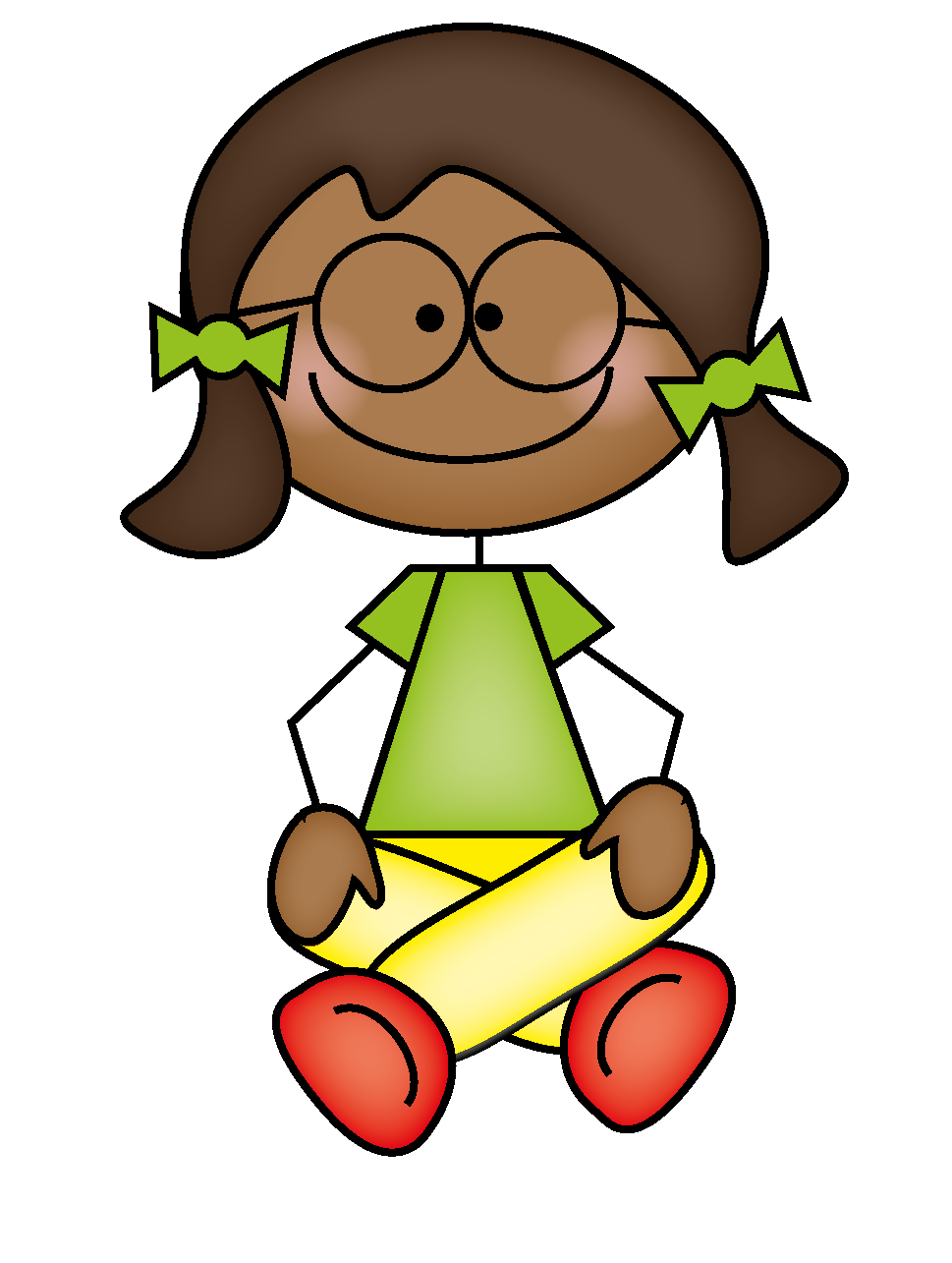 Sit clipart read. The resourceful apple reading