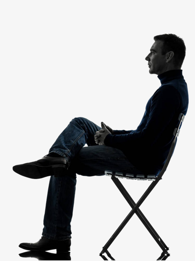 Sit clipart seated. A man on stool