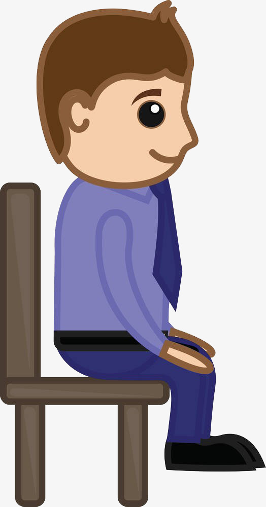 Sit clipart siting. A man sitting on