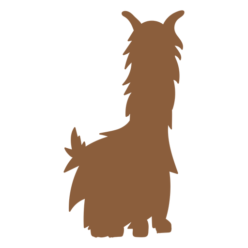 Sitting llama png. Silhouette transparent svg vector