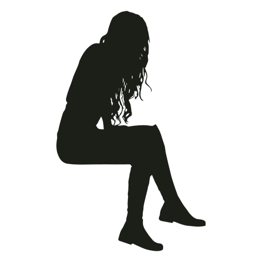 Sitting llama png. Woman silhouette transparent svg