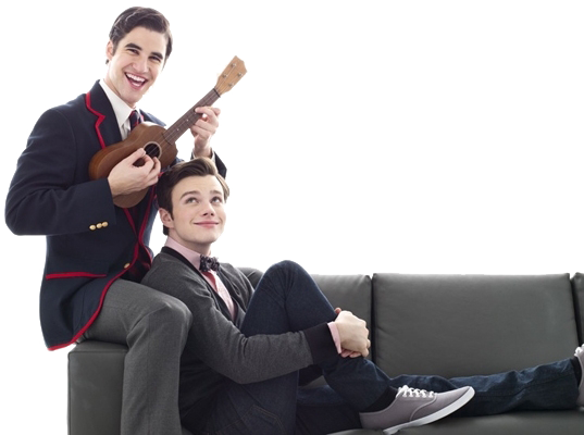 Sitting on couch png. Image klaine glee tv