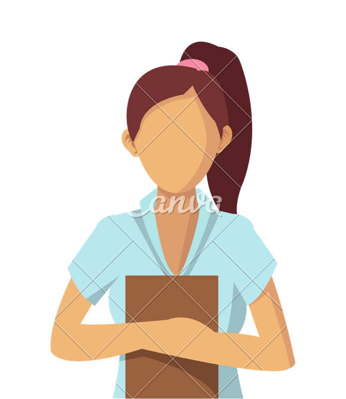 Sitting vector faceless. Woman icons by canva