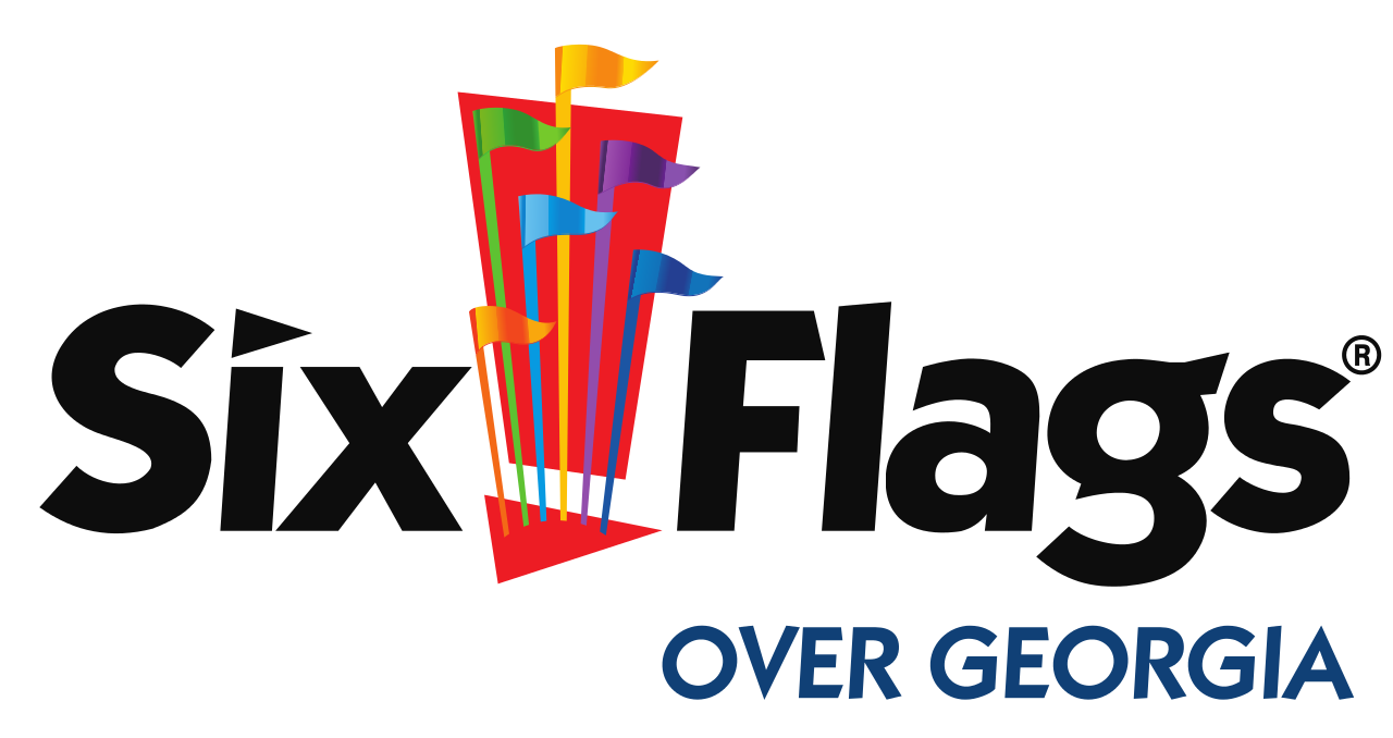 Six flags logo png. Image over georgia svg