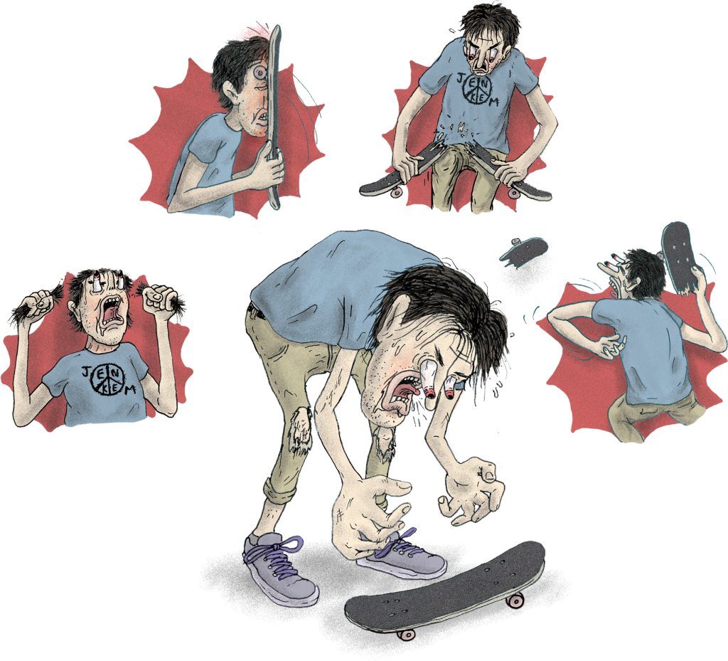 Skateboard cartoon png. What happened to freak