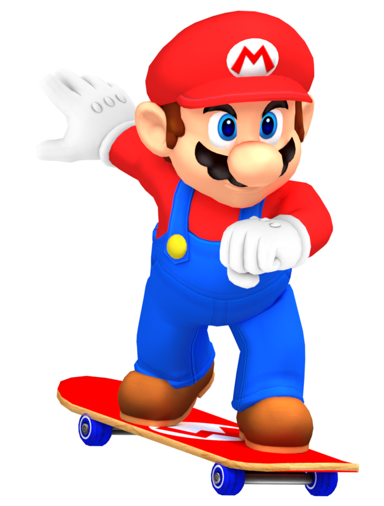 Skateboard cartoon png. Mario skateboarding by nintega