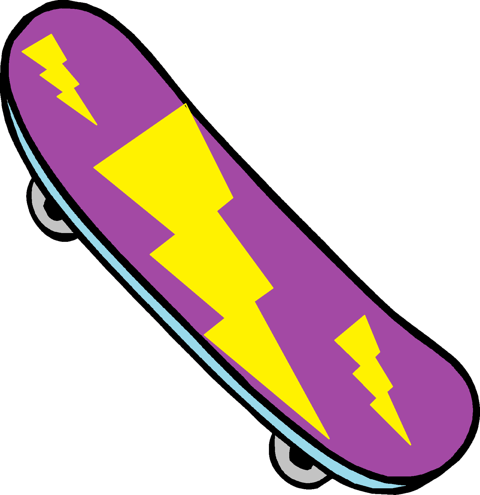 Skateboard cartoon png. Collection of clipart