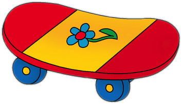 Skateboard cartoon png. Clipart images