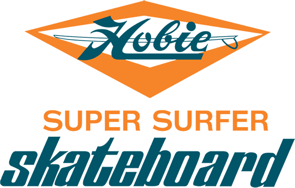 Skateboard clip. Super surfer hobie the