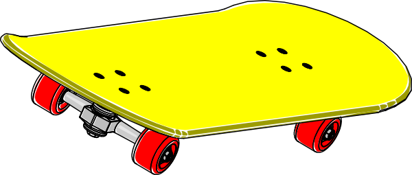 Vector skateboard royalty free. Clipart png image