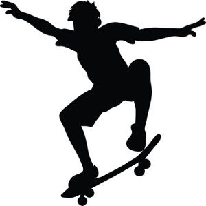 skateboard clipart skateboard outline