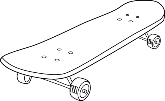 Skateboard outline png. Collection of drawing