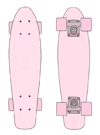 Drawing skateboard penny board. My obsession is real