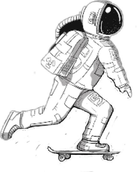 Skateboard tumblr png. Space astrounaut skate