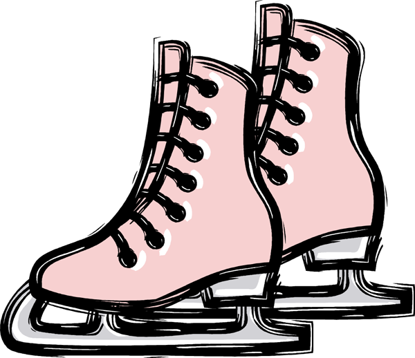 Pair of ice . Skates clipart image transparent
