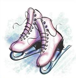 Free ice. Skates clipart black and white