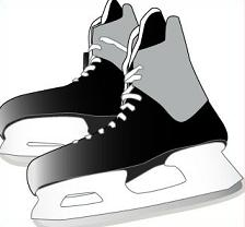 Free hockey. Skates clipart clip art black and white library