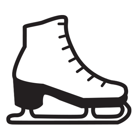 Skates clipart iceskater. Ice skating shoes png