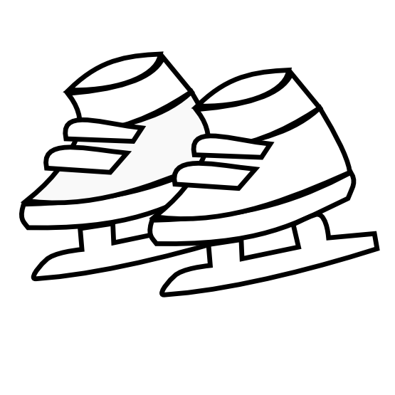 Skates drawing black and white. Clipartist net clip art