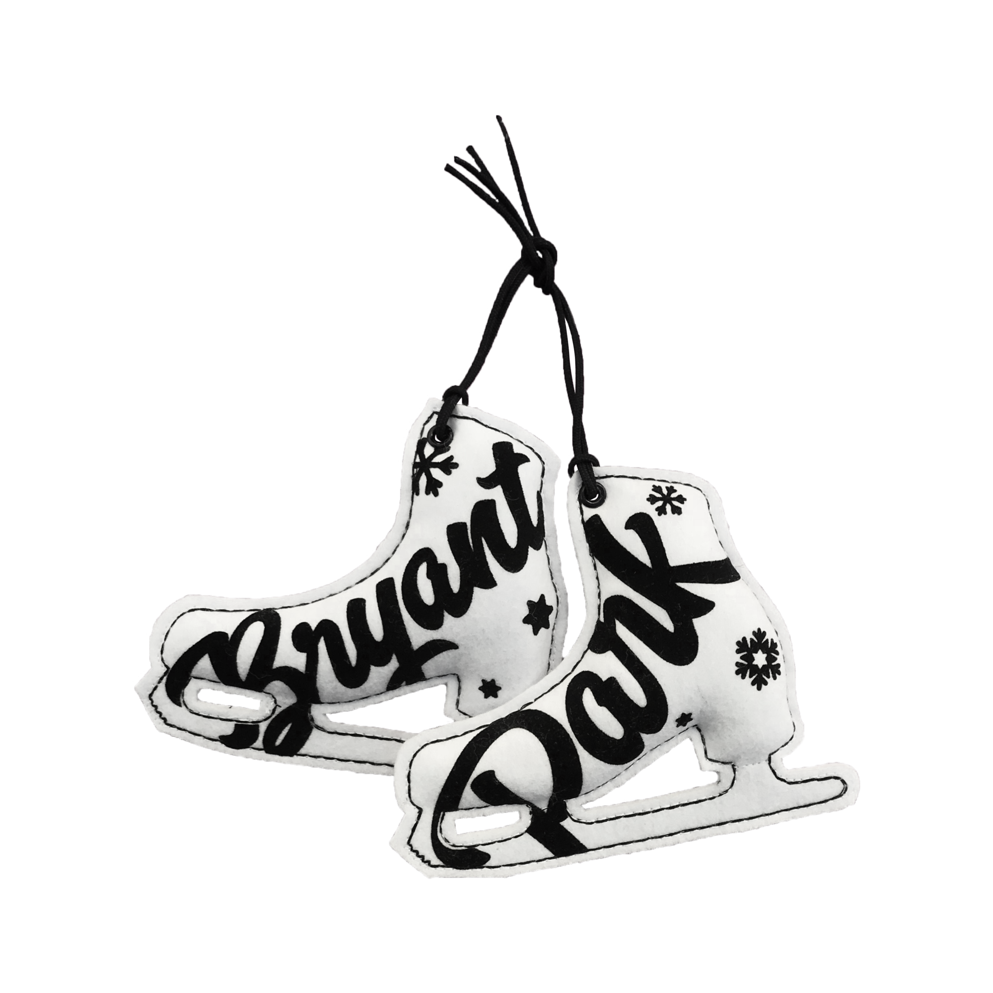 Skates drawing black and white. Pair of ornament bryant