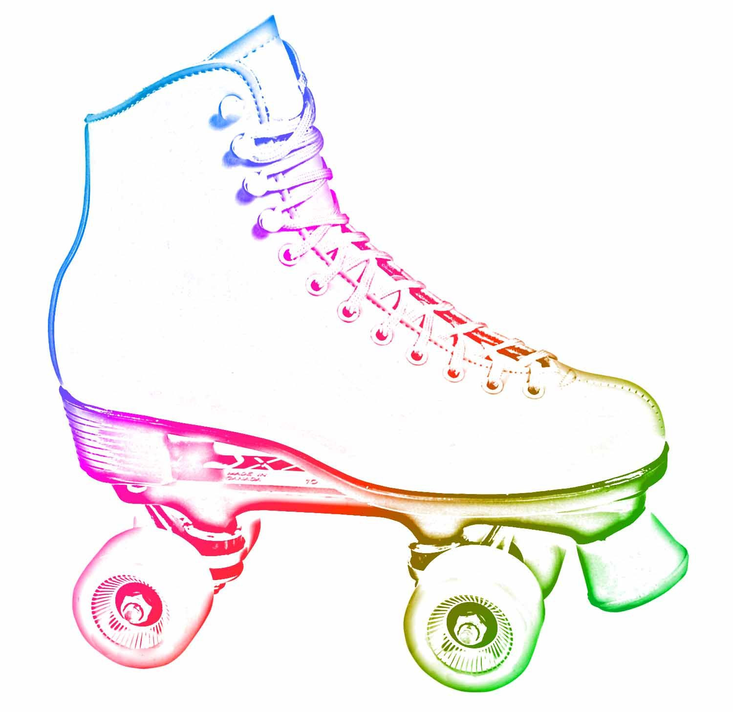 Skating clipart printable. Roller party invitations new