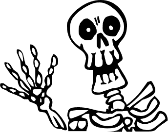Coffin clipart halloween skeleton. Free public domain clip