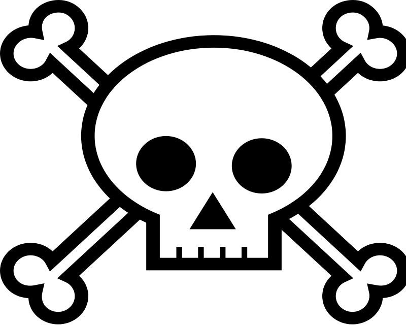Free human clipart download. Skull and bones png svg black and white library