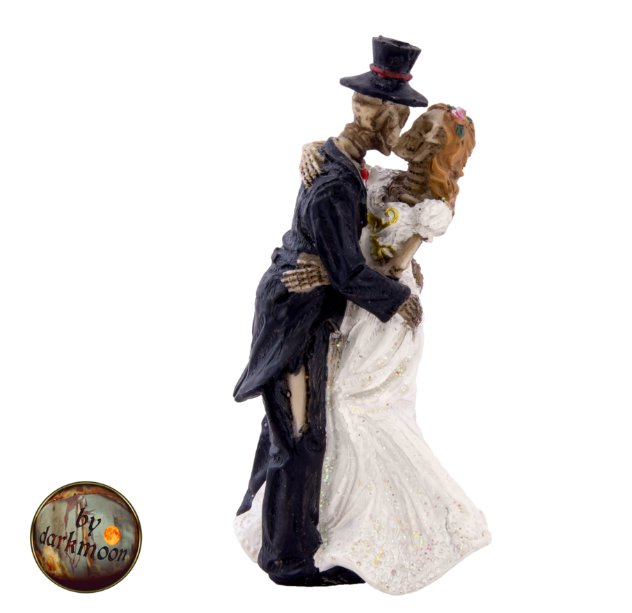 Skeleton couple png. Gothic wedding by darkmoon