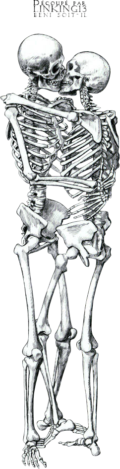 Skeleton couple png. Render personnages renders squelettes