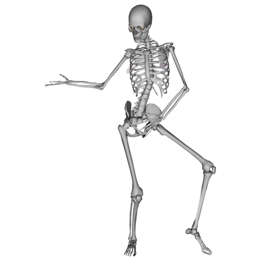 Skeleton dance png