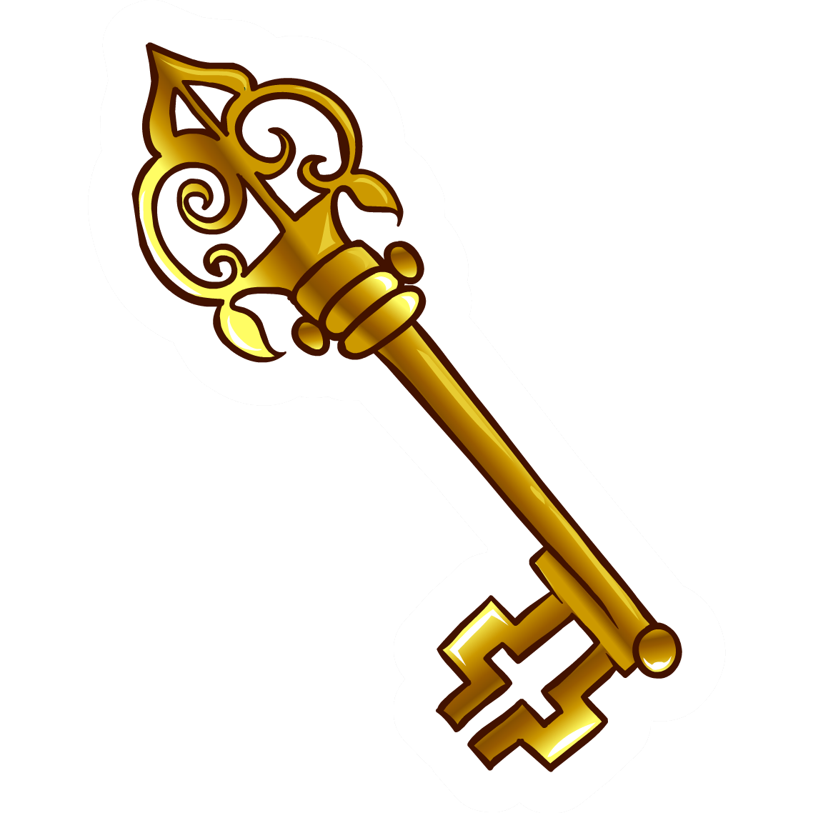 Skeleton keys png file. Image old key pin