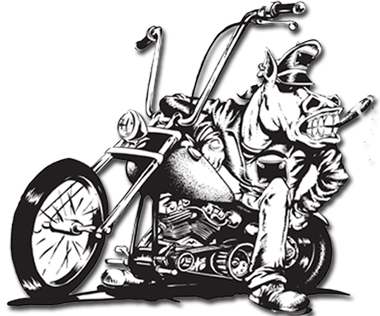 Drawing motorcycle chopper. The horse backstreet choppers