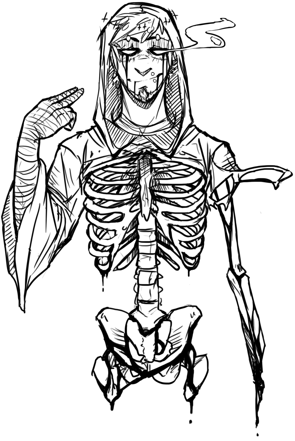 Skeletons drawing sketch. Skeleton by blasticheart deviantart
