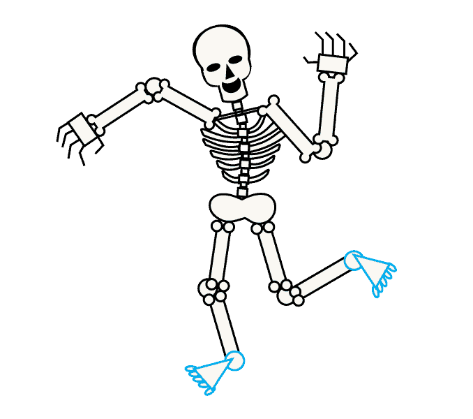 Skeletons drawing. How to draw a