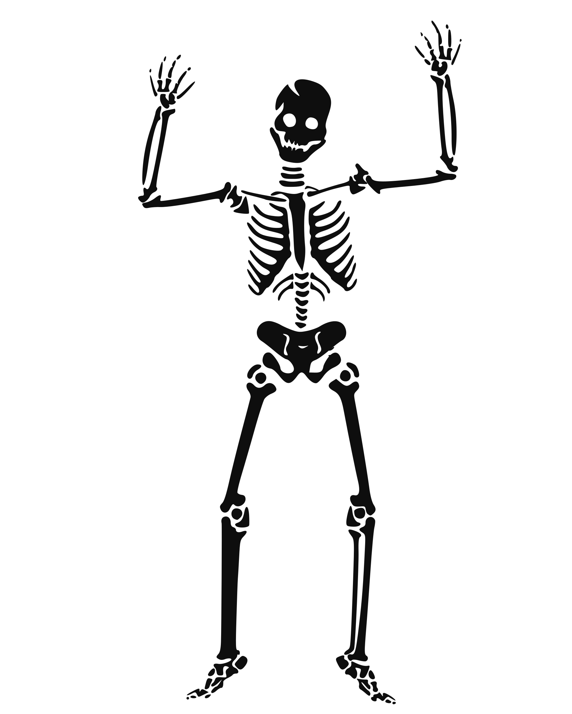 Transparent bone cartoon. Skeleton clipart clip art