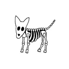 skeliton clipart dog skeleton